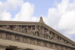 Συγκεκριμένο σύνολο - μεγέθους αντίγραφο του ναού Parthenon στο Νάσβιλ Τένεσι Στοκ Φωτογραφίες