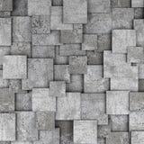 Συγκεκριμένο τρισδιάστατο υπόβαθρο τοίχων κύβων Στοκ φωτογραφία με δικαίωμα ελεύθερης χρήσης