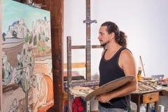 Συγκεντρωμένος ζωγράφος Στοκ Φωτογραφίες