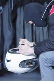 Συγκεντρωμένος πηγαίνετε -πηγαίνω-kart οδηγός στοκ φωτογραφία με δικαίωμα ελεύθερης χρήσης
