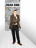 Συγκεντρωμένο άτομο που σκέφτεται σε ένα αδιέξοδο Στοκ εικόνες με δικαίωμα ελεύθερης χρήσης