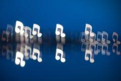 Συγκεχυμένα διαμορφωμένα σημείωση φω'τα μουσικής Στοκ Εικόνες