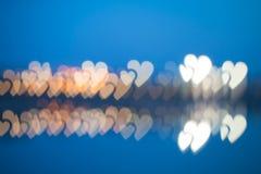 Συγκεχυμένα καρδιά-διαμορφωμένα φω'τα Στοκ Φωτογραφίες