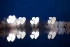 Συγκεχυμένα καρδιά-διαμορφωμένα φω'τα Στοκ Εικόνες