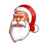 Συγκινήσεις Άγιου Βασίλη Μέρος του συνόλου Χριστουγέννων Οργή, έξαλλη συμπεριφορά, θυμός Έτοιμος για την τυπωμένη ύλη ελεύθερη απεικόνιση δικαιώματος