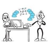 Συγκινήσεις σειράς αριθμού ραβδιών - συνεργασία Διαδικτύου απεικόνιση αποθεμάτων