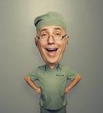 Συγκινημένος γιατρός στα γυαλιά Στοκ εικόνες με δικαίωμα ελεύθερης χρήσης