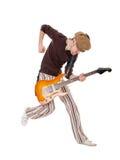 Συγκινημένος κιθαρίστας Στοκ Εικόνες