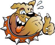 Συγκινημένο σκυλί του Bull που δίνει τον αντίχειρα επάνω Στοκ Φωτογραφία