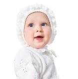 συγκινημένο το μωρό κορίτσι προσώπου απομόνωσε το λευκό Στοκ φωτογραφία με δικαίωμα ελεύθερης χρήσης