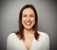 Συγκινημένο brunette Στοκ εικόνες με δικαίωμα ελεύθερης χρήσης