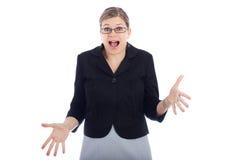 συγκλονισμένη γυναίκα στοκ εικόνα με δικαίωμα ελεύθερης χρήσης