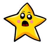 Συγκλονισμένο αστέρι κινούμενων σχεδίων διανυσματική απεικόνιση