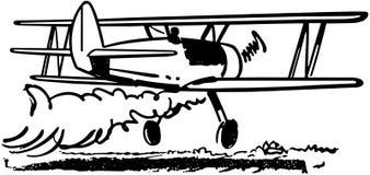Συγκομιδή που ξεσκονίζει Biplane απεικόνιση αποθεμάτων