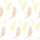 Συγκομιδή σιταριού σίτου σχεδίων διανυσματική απεικόνιση