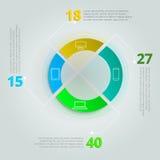 Συγκριτικό infographics για τη σφαίρα ΤΠ Στοκ φωτογραφία με δικαίωμα ελεύθερης χρήσης
