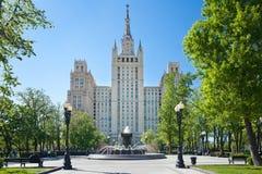 Συγκρότημα κατοικιών στην πλατεία Kudrinskaya στη Μόσχα Αυτοκρατορία του Στάλιν Στοκ Φωτογραφία