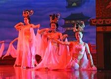 συγκρότημα χορευτών χορού xian Στοκ εικόνες με δικαίωμα ελεύθερης χρήσης