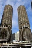 Συγκυριαρχίες πόλεων μαρινών σύνθετες στο Σικάγο Στοκ Φωτογραφία