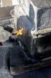 Συγκόλληση μιας αδιάβροχης θήκης στοκ φωτογραφίες με δικαίωμα ελεύθερης χρήσης