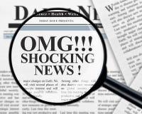 Συγκλονίζοντας τίτλος ειδήσεων στοκ φωτογραφίες με δικαίωμα ελεύθερης χρήσης
