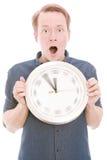 Συγκλονίζοντας χρόνος (έκδοση χεριών ρολογιών περιστροφής) Στοκ Εικόνες