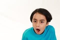Συγκλονισμένο μικτό αγόρι φυλών Στοκ Εικόνες