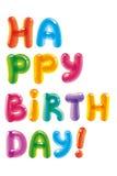 Συγχαρητήρια με την ημέρα της γέννησης Κείμενο Baloon διάνυσμα απεικόνισης χαιρετισμού καρτών eps10 γενεθλίων Στοκ Φωτογραφία