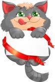 Συγχαρητήρια σε ένα γατάκι Στοκ φωτογραφία με δικαίωμα ελεύθερης χρήσης