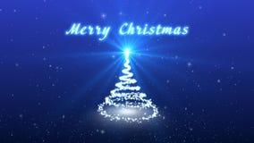 Συγχαρητήρια τηλεοπτική κάρτα Χριστουγέννων Δημιουργήστε ένα φανταστικό χριστουγεννιάτικο δέντρο Το χιόνι και snowflakes πέφτουν  φιλμ μικρού μήκους