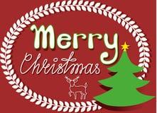 Συγχαρητήρια Χριστουγέννων Στοκ φωτογραφίες με δικαίωμα ελεύθερης χρήσης
