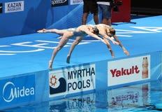 Συγχρονισμένη κολύμβηση Στοκ Εικόνες