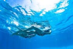 Συγχρονισμένος κολύμβησης χορός φωτογραφιών κοριτσιών υποβρύχιος Στοκ φωτογραφία με δικαίωμα ελεύθερης χρήσης