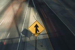 Συγχωνεύσεις Onramp αυτοκινητόδρομων Στοκ Φωτογραφίες