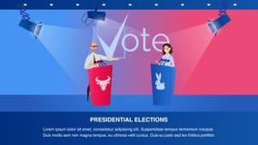 Συζήτηση δύο απεικόνισης προεδρικός υποψήφιος απεικόνιση αποθεμάτων