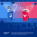 Συζήτηση δύο απεικόνισης προεδρικός υποψήφιος διανυσματική απεικόνιση