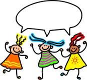 συζήτηση κοριτσιών διανυσματική απεικόνιση