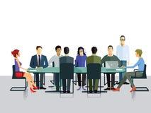 Συζήτηση ομάδας στην αρχή διανυσματική απεικόνιση