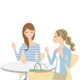 Συζήτηση σε έναν καφέ ελεύθερη απεικόνιση δικαιώματος