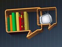 Συζήτηση του βιβλίου ή της TV Στοκ Εικόνες