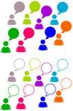 Συζήτηση emoticon Στοκ εικόνες με δικαίωμα ελεύθερης χρήσης