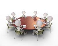 Συζητήσεις διασκέψεων στρογγυλής τραπέζης Στοκ Φωτογραφία