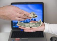 συζητήσεις χρημάτων Στοκ Φωτογραφίες