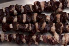 Συκώτι Kebab Στοκ εικόνες με δικαίωμα ελεύθερης χρήσης