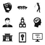 Συλλάβετε τα εικονίδια καθορισμένα, απλό ύφος ελεύθερη απεικόνιση δικαιώματος