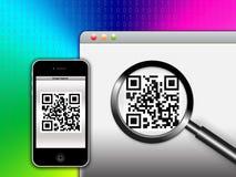 συλλάβετε την απάντηση κώδικα qr γρήγορα διανυσματική απεικόνιση