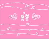 Συλλογή αγάπης στο άσπρο υπόβαθρο, διανυσματική απεικόνιση Στοκ φωτογραφίες με δικαίωμα ελεύθερης χρήσης