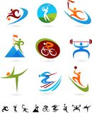 Συλλογή αθλητικών εικονιδίων - 6 διανυσματική απεικόνιση