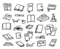 Συλλογή βιβλίων Doodle, διανυσματική απεικόνιση Στοκ εικόνες με δικαίωμα ελεύθερης χρήσης