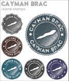 Συλλογή γραμματοσήμων Brac Cayman ελεύθερη απεικόνιση δικαιώματος